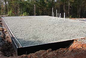 Gravel foundation